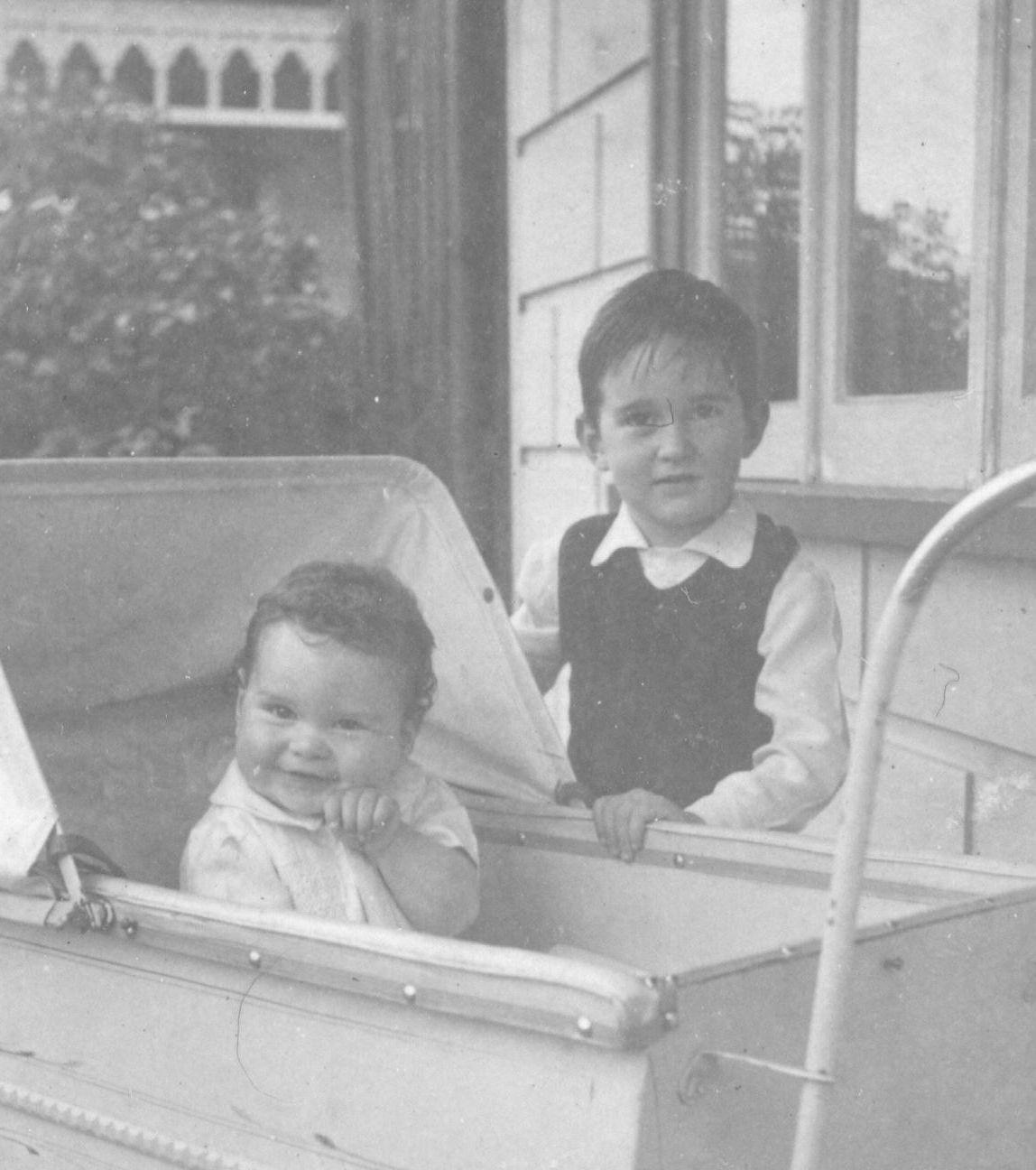 With older brother circa 1952